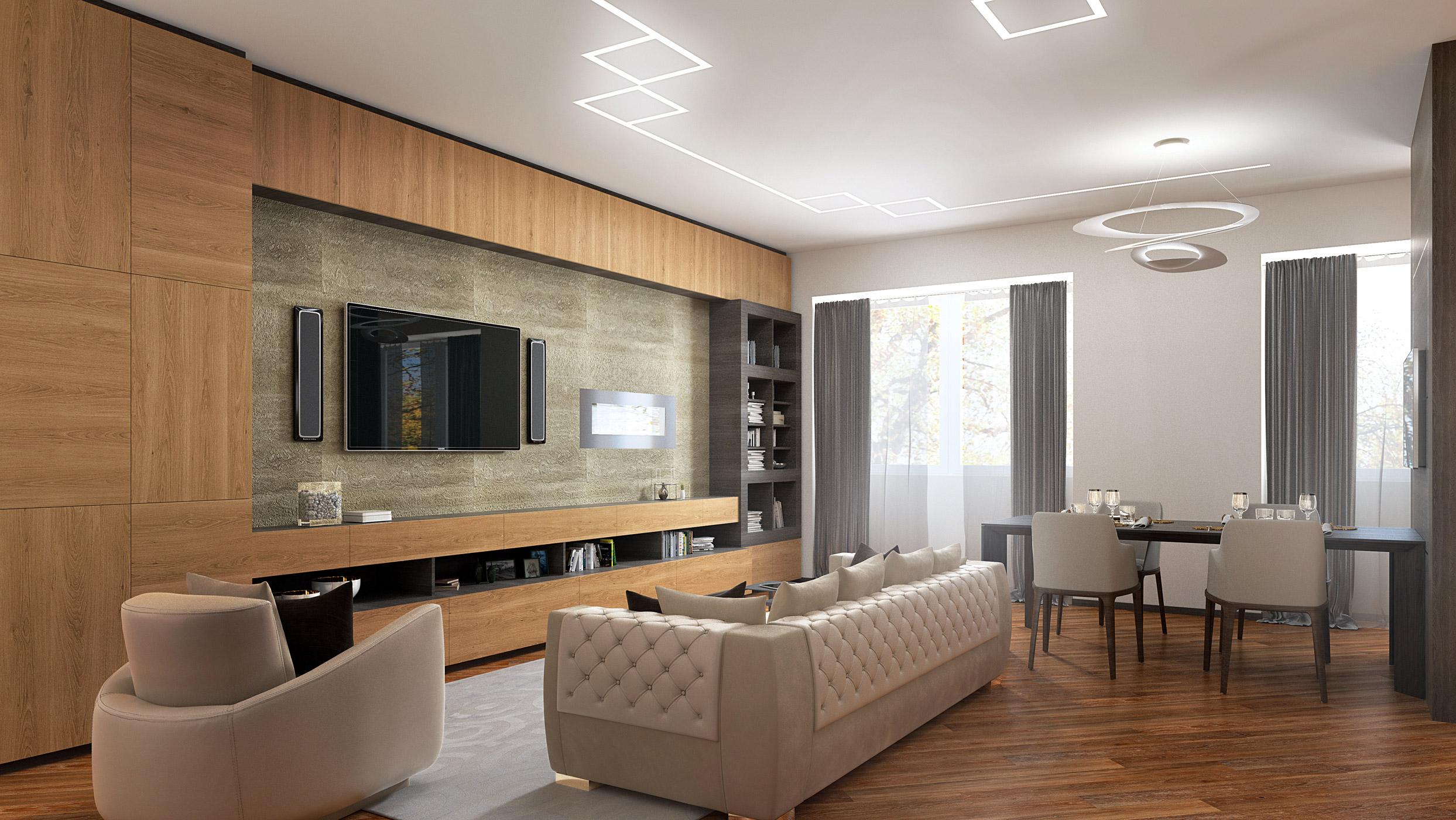 Living and Kitchen - Rampoldi Creations - Rampoldi Creations