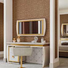 Bedroom Contemporary - Vanity, poltrona, specchiera Lumière - Rampoldi Casa